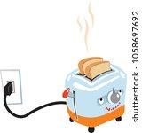 cute cartoon of an electric... | Shutterstock .eps vector #1058697692