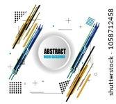 elegant design modern abstract... | Shutterstock .eps vector #1058712458