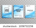 abstract business brochure... | Shutterstock .eps vector #1058732258