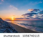 beautiful scenery of the sunset ...   Shutterstock . vector #1058740115