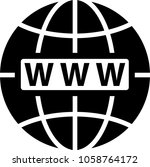 web icon  www icon raster art... | Shutterstock . vector #1058764172