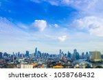 cityscape bangkok skyline ... | Shutterstock . vector #1058768432