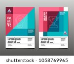 cover design  template layout... | Shutterstock .eps vector #1058769965