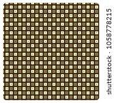 vector seamless pattern  hollow ... | Shutterstock .eps vector #1058778215