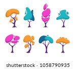 beautiful stylized colorful... | Shutterstock .eps vector #1058790935
