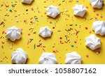 candy party. cake. flat lay... | Shutterstock . vector #1058807162