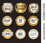 luxury white labels collection...   Shutterstock .eps vector #1058813348