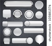 Blank Grey Web Buttons For...