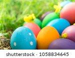 easter egg  happy easter... | Shutterstock . vector #1058834645