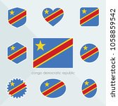 congo democratic republic flag. ... | Shutterstock .eps vector #1058859542