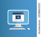 desktop computer with the... | Shutterstock .eps vector #1058863232