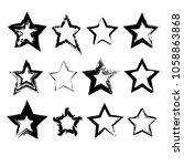 set of hand drawn grunge star... | Shutterstock . vector #1058863868