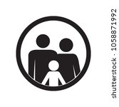 family icon. parents and kid.... | Shutterstock .eps vector #1058871992