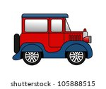 an illustration of small toy car | Shutterstock . vector #105888515