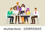 teamwork. meeting of business... | Shutterstock .eps vector #1058903645