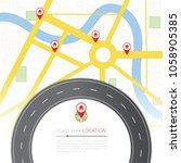 navigation concept with pin... | Shutterstock . vector #1058905385
