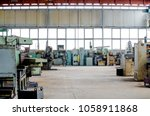 large industrial hall. turning... | Shutterstock . vector #1058911868