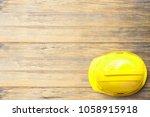top view safety engineer helmet ... | Shutterstock . vector #1058915918