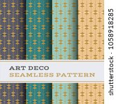 art deco seamless pattern with... | Shutterstock .eps vector #1058918285