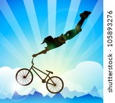 bmx cyclist performing stunt on ... | Shutterstock .eps vector #105893276