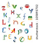 set of symbols  letters and...