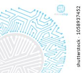 vector abstract computer... | Shutterstock .eps vector #1058937452