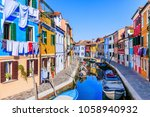 Burano  Italy. View Of The...
