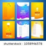 set flyer design template beer...   Shutterstock .eps vector #1058946578