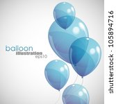 background with blue balloons | Shutterstock .eps vector #105894716