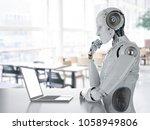 3d rendering humanoid robot... | Shutterstock . vector #1058949806