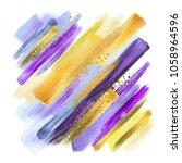 abstract watercolor brush... | Shutterstock . vector #1058964596