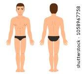 male body in underwear front... | Shutterstock . vector #1058967758