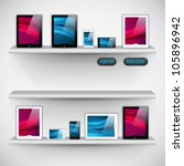 bookshelf  tablet computers and ... | Shutterstock .eps vector #105896942