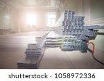 frames for plasterboard for... | Shutterstock . vector #1058972336