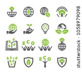 eco icon set | Shutterstock .eps vector #1058979098