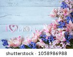 background with a... | Shutterstock . vector #1058986988