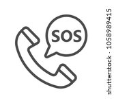 sos icon  logo illustration ... | Shutterstock .eps vector #1058989415