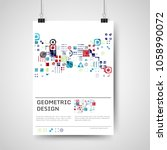 abstract colorful poster design ... | Shutterstock .eps vector #1058990072