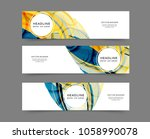 set of abstract web banner... | Shutterstock .eps vector #1058990078