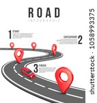 road infographic template with... | Shutterstock . vector #1058993375