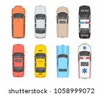 colorful different cars. top... | Shutterstock .eps vector #1058999072