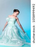 girl in a gorgeous ball gown in ... | Shutterstock . vector #1058999492