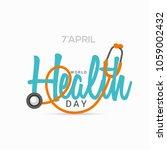 illustration of world health... | Shutterstock .eps vector #1059002432