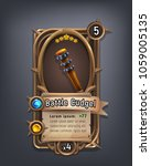 card of fantasy battle cudgel... | Shutterstock .eps vector #1059005135