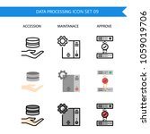 data processing icon set... | Shutterstock .eps vector #1059019706