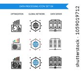 data processing icon set... | Shutterstock .eps vector #1059019712