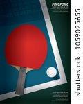 pingpong poster template vector ... | Shutterstock .eps vector #1059025655