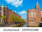 famous old speicherstadt in... | Shutterstock . vector #1059032588