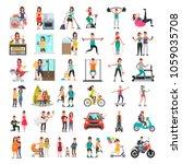 people color flat illustrations ... | Shutterstock .eps vector #1059035708