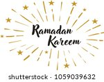 ramadan greeting card with...   Shutterstock .eps vector #1059039632